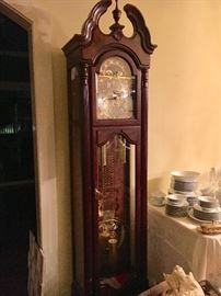 "Howard Miller ""Langston"" Grandfather Clock, purchased new Fall of 2018."