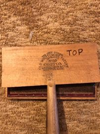 ANTIQUE VINTAGE L. S. WATSON & CO. NO. 10 COTTON CARDERS OLD WHITTEMORE WOODEN