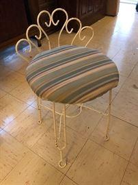 vintage vanity stool