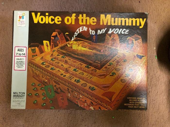 Voice of the Mummy Game - Milton Bradley  - Rare!
