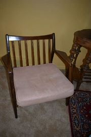 VINTAGE DANISH CHAIR FROM DENMARK(COMES W/2 CUSHIONS)