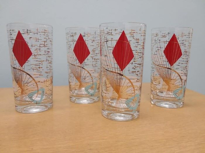 Atomic Mid Century Glassware and Pottery