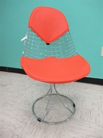 Chrome Wire Chair with Eames Style Bikini Cover