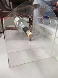 Lucite Wine Rack