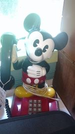 My cousin was given this Mickey Mouse phone at Disney