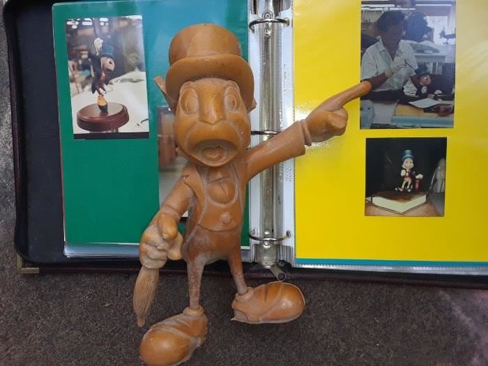 Unpainted Jiminy Cricket figure from Pinocchio at Disney World