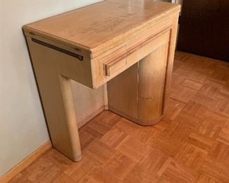 Singer Sewing Machine 201 1949 in Blond 42 Cabinet31x29x17inD