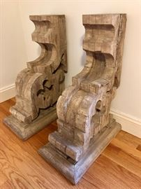 3' Restoration Hardware Corbel Table - glass not pictured -- (these are upsidedown)