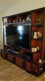 Beautiful entertainment TV center with 3 storage drawers with DVD storage.(TV NOT INCLUDED IN SALE)