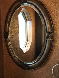 Oval beveled mirror.  One of several mirrors