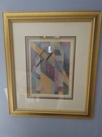 framed multi-media art by P. Fitch