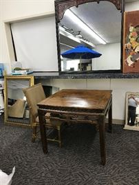 Asian table and mirror