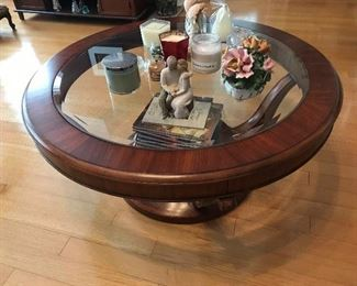 Wood / Glass Coffee Table $ 140.00