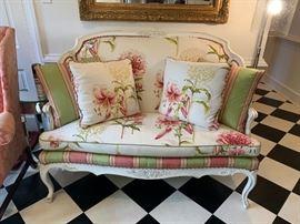 Custom Settee...it's as pretty as it is comfortable.