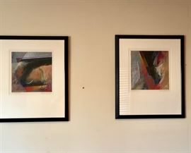 Two signed art pieces.