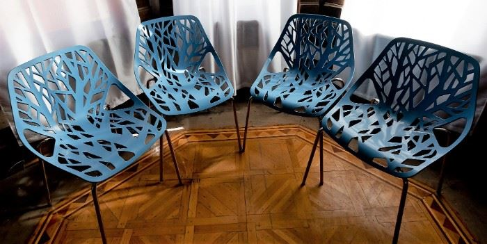 Modern Blue Life Chairs (4)