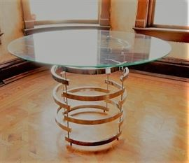 Chrome & Glass Dining Table