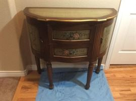 Pretty Painted Hall Cabinet