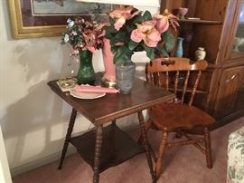Table and home decor - chair