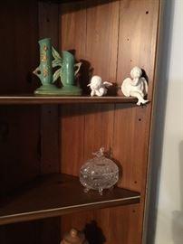 Angels, planter & candy jar
