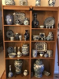 A portion of a huge blue and white collection