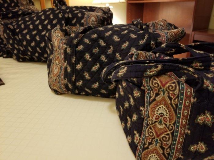 Vera Bradley Paisely Blue Luggage Set