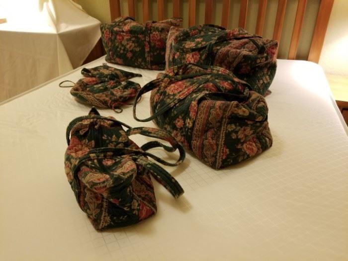 Vera Bradley Green Floral Luggage Set
