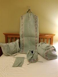 Vera Bradley Light Blue Floral Luggage Set