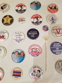 Reagan and Bush Campaign Buttons