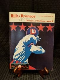 1969 Bills and Broncos Official Magazine signed by Jack Kemp and O.J. Simpson