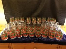 Collection of Christmas Holiday Glasses