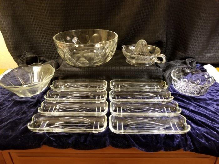 Assortment of Glass Kitchenware