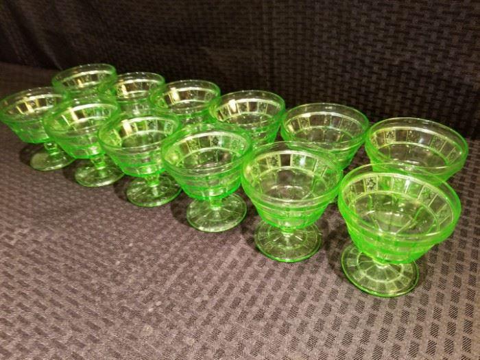 Doric Depression Glass Sherbert Cups