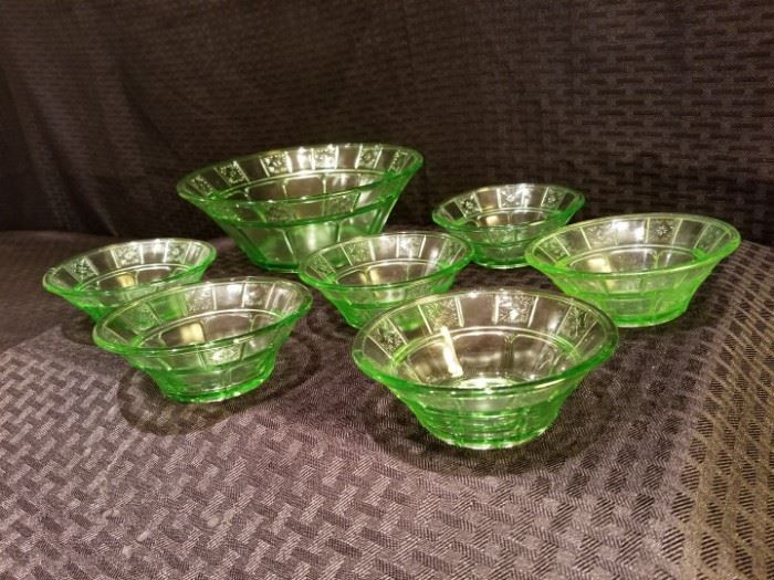 Doric Depression Glass Bowls