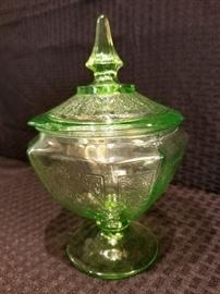 Doric Depression Glass Candy Dish