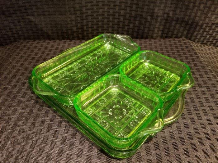 Doric Depression Glass Relish Tray