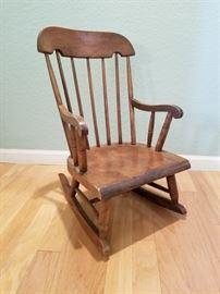 Nichols and Stone Co. Child Rocking Chair