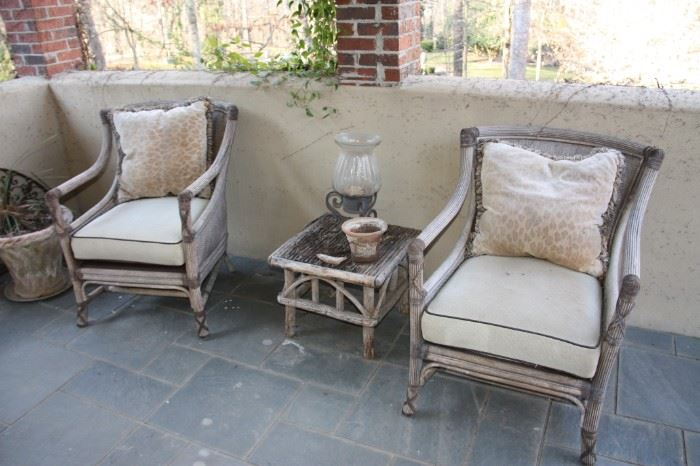 Weathered outdoor furniture