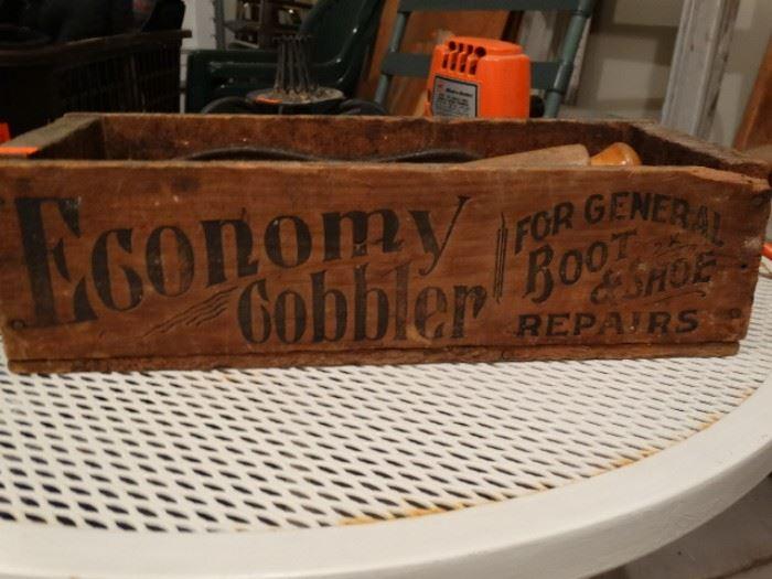 Cobbler box and tools