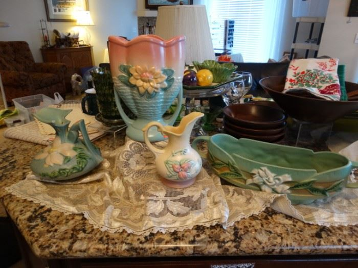 Roseville and Hull pottery
