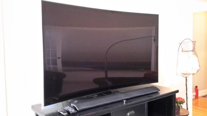 "Samsung  Curved 65"" TV."