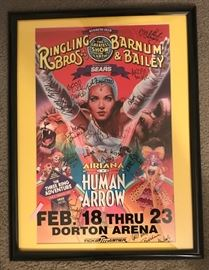 Autographed Ringling Bros. and Barnum Bailey Circus Poster