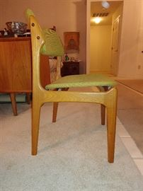 Danish Chair w/ floating seat. One of Six.