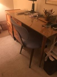 Mid century desk etc