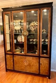 Excellent condition! Lighted curio/display hutch.