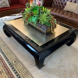 """Chinoiserie Laquered Coffee table measures 43""""x35.5"""""""
