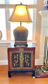 Pair of Chinoiserie Storage tables