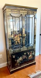 """Hand Painted Curio Cabinet 36""""W x 68""""H"""