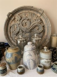 Large collection of signed pottery