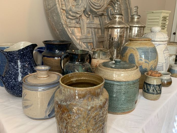 One of a kind pottery, vases, jars, etc.